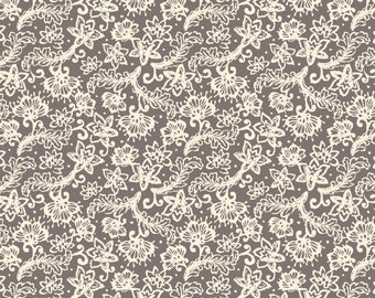 Sweet Beginning grey lace print MAS10014-K by Jera Brandvig of Quilting in the Rain for Maywood Studios