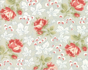 Victoria Ivory Blue 44161 13 by 3 Sisters for moda fabrics
