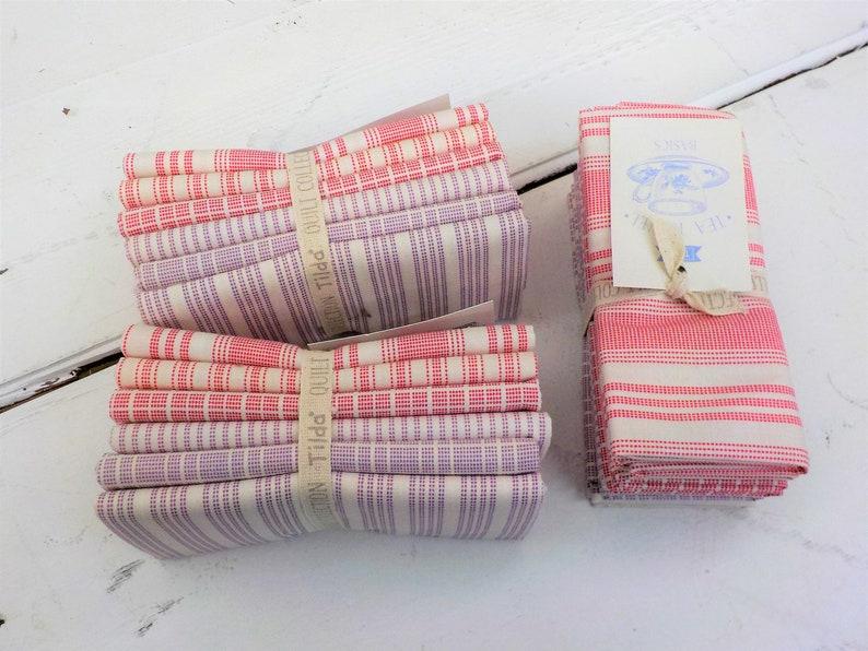 Tilda Tea Towel Basics...Red and Plum...a Tilda Collection image 1