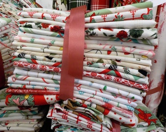 Christmas Low Volume...20 fat quarter bundle of low volume Christmas prints...exclusive grouping