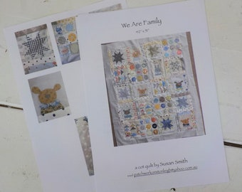 We Are Family Quilt pattern...pattern designed by Susan Smith...complete pattern