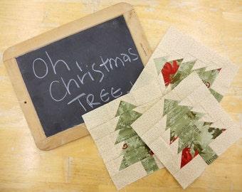 Week 6 Oh Christmas Tree...Christmas Morning Quilt Along...PDF block pattern
