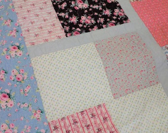 Gypsophila quilt kit...designed by Mickey Zimmer for Sweetwater Cotton Shoppe, large floral kit, beginner quilt kit, summer diy quilt kit
