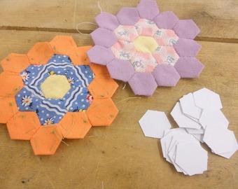 hexagons, 1/2 inch...100 pieces, laser cut