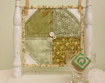 Lucky Shamrock, a Sweet Delight, complete kit...pattern designed by Mickey Zimmer for Sweetwater Cotton Shoppe