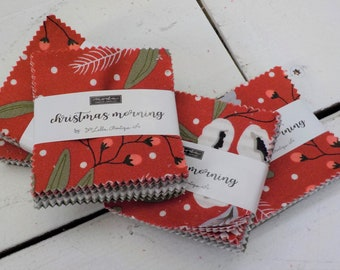 Christmas Morning mini charm pack by Lella Boutique for Moda Fabrics