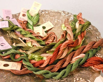Chip and Mint Thread Pack of 10 skeins of Edmar Thread.