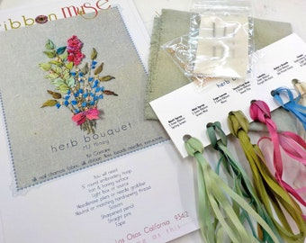 Herb Bouquet by MJ Hiney...the Ribbon Muse...complete kit with instructions