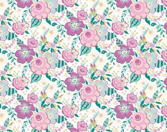 The Deco Dance Collection, Lindy Pop A 04775917A, by Liberty fabrics for Riley Blake Designs, Liberty Quilting Cotton