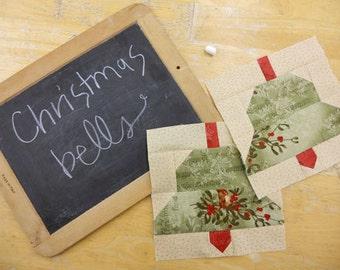 Week 2 Christmas Bells...Christmas Morning Quilt Along...PDF block pattern