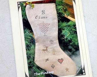 S. Claus Prim Stocking by The Pinkeep...cross stitch pattern