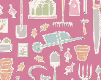 Tiny Farm Farm Tools Pink TIL110017-V11...a Tilda Collection designed by Tone Finnanger