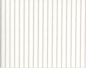 Dover Ticking Stripe Grey 18705 11 by Brenda Riddle for Moda Fabrics