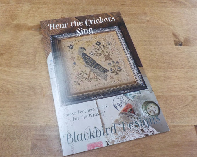 Hear the Crickets Sing, Loose Feathers Series For the Birds #7, by Blackbird Designs...cross-stitch design