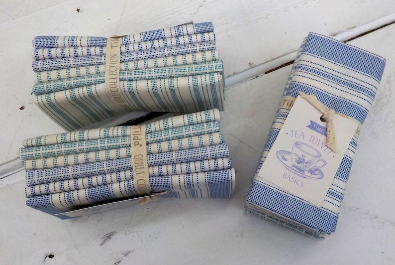 Tilda Tea Towel Basics...Blue and Teal...a Tilda Collection image 1