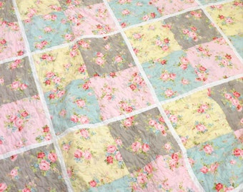 PDF Garden Tour quilt pattern...featuring Amberley collection...pattern designed in-house by Mickey Zimmer...DIY quilt pattern