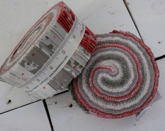 Christmas Morning jelly roll by Lella Boutique for Moda Fabrics