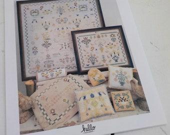 Dutch Sampler Collection, 3 cross stitch patterns, by hello from Liz Mathews, cross stitch, blue and yellow