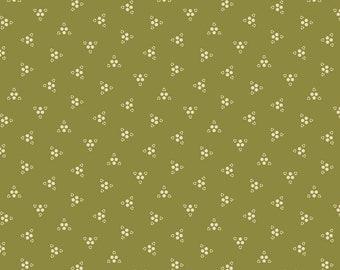 Purple Passion triple triple by Paula Barnes R2243-GREEN for Marcus Fabrics