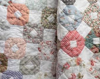 PDF Primrose Garden EPP quilt pattern designed by April Zimmer...english paper pieced