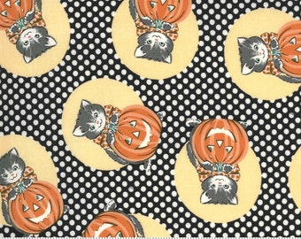 Kitty Corn Midnight 31171 17 by Urban Chiks for Moda Fabrics, halloween, autumn