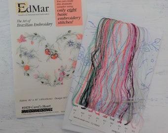 Carol's Heart...EdMar 1020 project...Brazilian embroidery