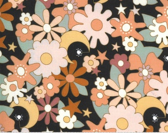 Kitty Corn Midnight 31172 17 by Urban Chiks for Moda Fabrics, halloween, autumn
