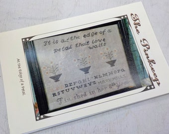 At the Edge of a Petal by The Pinkeep...cross stitch pattern