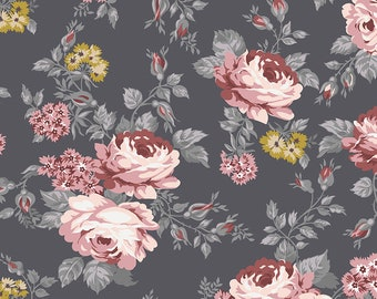 Exquisite SC10700-CHARCOAL by Gerri Robinson of Planted Seed Designs for Riley Blake Designs