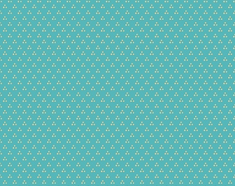 Chick-A-Doodle Doo teal chicken spots CD21705 by Poppie Cotton