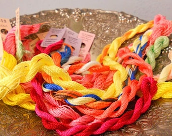 Tutti Fruiti Thread Pack of 10 skeins of Edmar Thread.