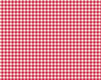 Sweet Beginning red gingham MAS10017-R by Jera Brandvig of Quilting in the Rain for Maywood Studios