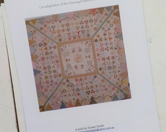 Swan Lake (an adaptation of the Dancing Dollies coverlet) Quilt pattern...pattern designed by Susan Smith...complete pattern