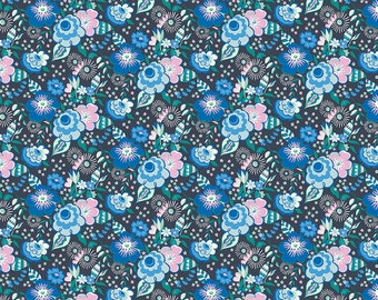 The Deco Dance Collection, Mini Lindy Pop A 04775918A, by Liberty fabrics for Riley Blake Designs, Liberty Quilting Cotton