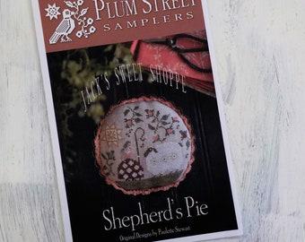Shepherd's Pie, Jack's Sweet Shoppe, by Plum Street Samplers...cross stitch pattern, spring cross stitch, summer cross stitch