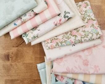 Rose & Violet's Garden fat quarter bundle by Miss Rose Sister Violet for Riley Blake Designs, 12 fat quarters