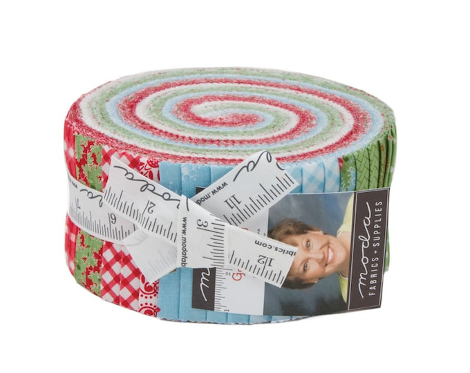 Good Tidings Jelly Roll by Brenda Riddle for moda fabrics