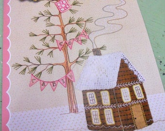 Lace Cabins, Full Set of 6 patterns and Quilt Assembly pattern by Meg Hawkey of Crabapple Hill Studio