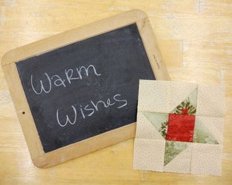 Week 8 Warm Wishes and Borders...Christmas Morning Quilt Along...PDF block pattern