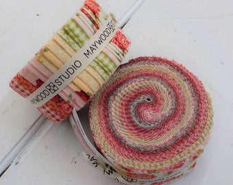 Sweet Beginnings 2 1/2 inch strip roll by Jera Brandvig of Quilting in the Rain for Maywood Studios, 40--2 1/2 inch strips