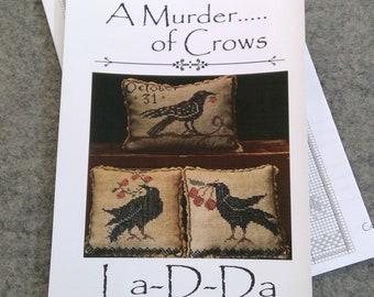 A Murder...of Crows by La-D-Da...cross stitch pattern