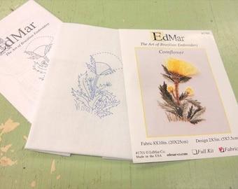 Cornflower...EdMar 1701 project...Brazilian embroidery