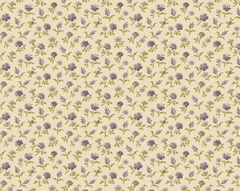 Purple Passion flower by Paula Barnes R2245-CREAM for Marcus Fabrics