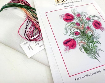Snowbells...EdMar kit #5121...Brazilian embroidery