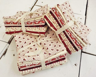 Redwork Gatherings by Primitive Gatherings for moda fabrics...11 fat quarters, exclusive grouping