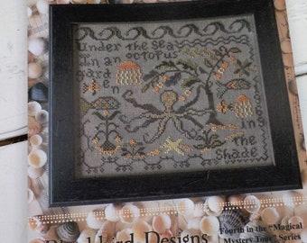 """Octopus's Garden, """"Magical Mystery Tour"""" Series #4, by Blackbird Designs...cross-stitch design"""