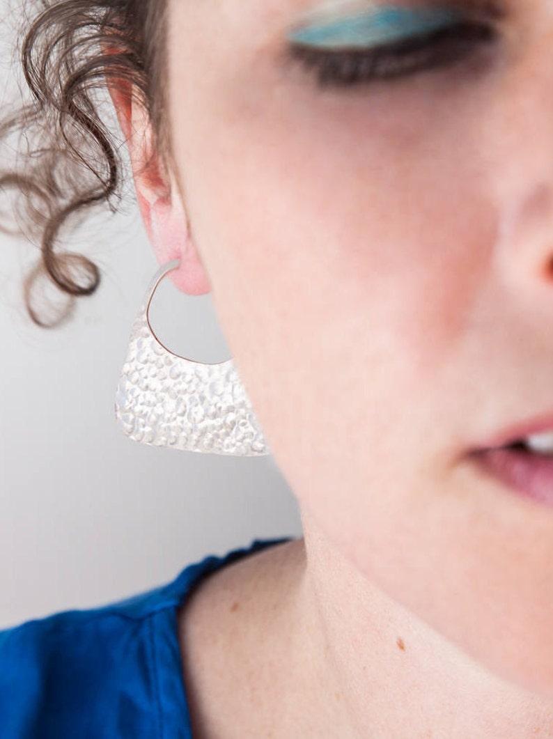 c630f7250 MAPUCHE HAMMERED EARRING tribal earring large earring   Etsy