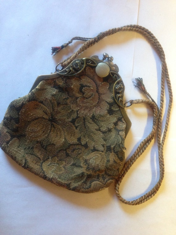 SALE Tapestry Vintage Purse 1915 lot A5