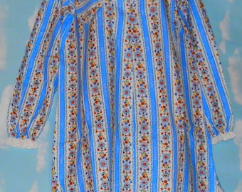 b63ff66c75 1970 S new LANZ OF SALZBURG Long sleeve Shortie Pajama Shirt dress