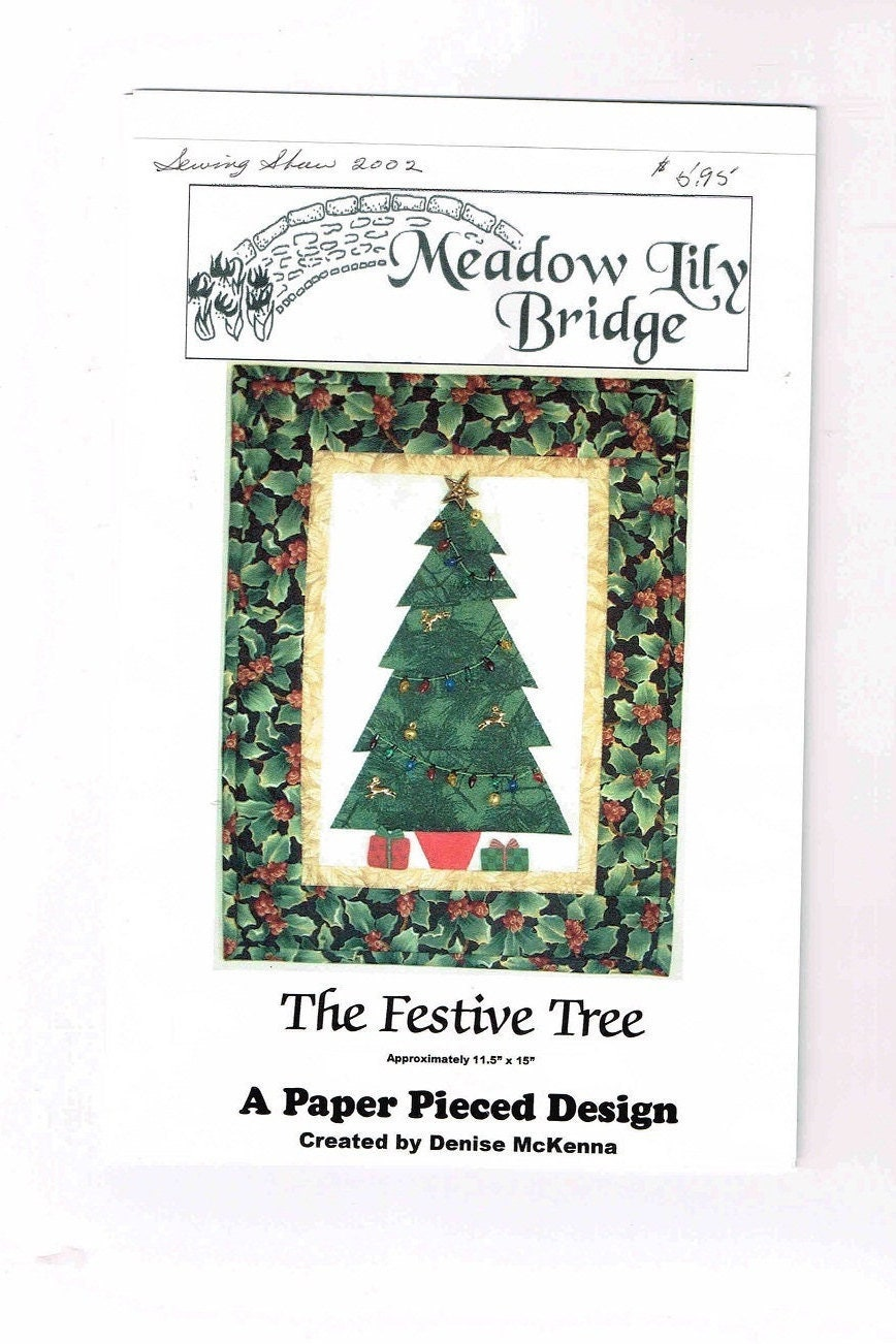The Festive Tree Quilt Pattern A Paper Pieced Design 11 | Etsy